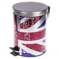 Kosz na śmieci z flagą Wielkiej Brytanii
