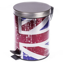 Odpadkový kôš s vlajkou Veľkej Británie