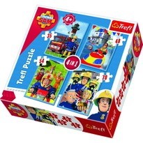 Trefl Puzzle Požiarnik Sam, 4 ks