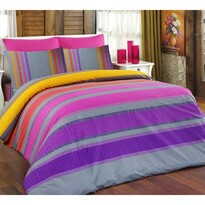 Bavlněné obliečky Elle fialová, 140 x 200 cm, 70 x 90 cm