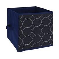 Cutie de depozitare Circles, din material textil, 27 x 27 x 27 cm