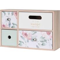 Drevená skrinka so 4 zásuvkami Santini