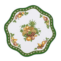 Obrus owoce zielony