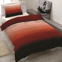 Balayage szatén ágyneműhuzat bordó, 140 x 200 cm, 70 x 90 cm