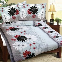 Lenjerie de pat din flanelă Gerberă, 140 x 200 cm, 70 x 90 cm