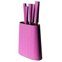 Toro Komplet noży 5 szt. w bloku, fioletowy