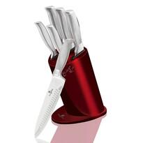 Berlinger Haus 6-częściowy zestaw noży w stojaku Burgundy Metallic Line