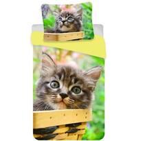 Bavlnené obliečky Mačka mourek, 140 x 200 cm, 70 x 90 cm