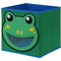 Textilný úložný box Žabka, 28 x 28 x 28 cm