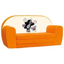 Bino Mini canapea Cârtița, portocalie