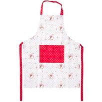 Fartuch kuchenny Country kropki czerwony, 60 x 80 cm