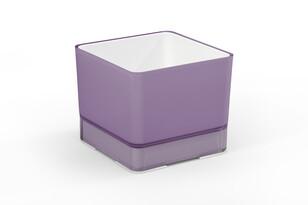 Plastový kvetináč Cube 120 fialová