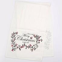 Běhoun na stůl Merry Christmas bílá, 40 x 140 cm