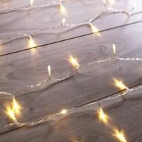 DecoKing Svetelná vianočná reťaz teplá biela, 200 LED