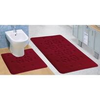 Sada koupelnových předložek Standard Stopa bordó, 60 x 100 cm, 60 x 50 cm