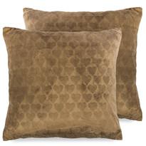 4Home Poszewka na poduszkę Love Everywhere brązowy, 2x 40 x 40 cm