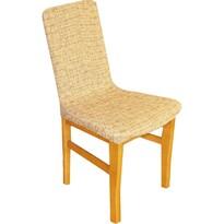 Luxusný poťah Andrea na stoličku hnedá, sada 2 ks