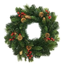 Wieniec świąteczny Savona zielony, śr. 50 cm