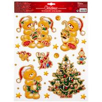 Sticker geam motiv de Crăciun Traditions, auriu