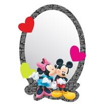 Lustro samoprzylepne dla dzieci Mickey i Minnie, 15 x 21,5 cm