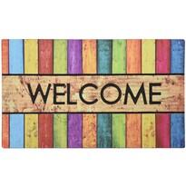 Welcome lábtörlő, színes sávok