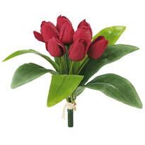 Umelá kvetina zväzok tulipánov červená