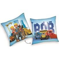 Poduszka Bob budowniczy i przyjaciele niebieski, 40 x 40 cm