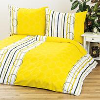 4Home Povlečení Clarissa žlutá 1 + 1, 140 x 200 cm, 70 x 90 cm