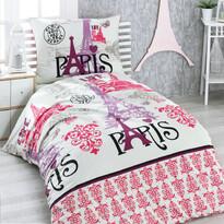 Lenjerie de pat, din bumbac, Paris, 140 x 220 cm, 70 x 90 cm
