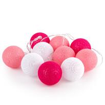Lampki świetlne La Balle, różowy
