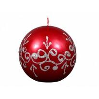 Lumânare de Crăciun Tiffany rotundă, roșie