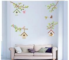 Samolepiaca dekorácia Vtáčie búdky