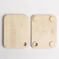 Deska do krojenia 01 mniejsza z litego drewna klonowego