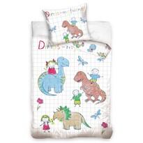 Detské bavlnené obliečky Dino, 140 x 200 cm, 70 x 90 cm