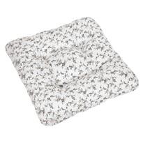 Sedák Adéla Větvička černá na bílé, 40 x 40 cm