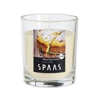 SPAAS Vonná sviečka v skle White Cake Vanilla, 7 c