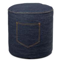 Jeans textil zsámoly, kék