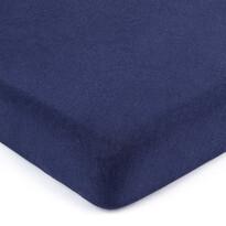 Cearșaf de pat 4Home jersey albastru închis, 90 x 200 cm