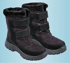 Zimní obuv s kožíškem, černá, 36