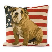 Față de pernă Jacquard Bulldog American, 45 x 45 cm