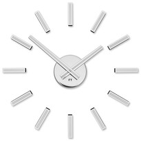 Future Time FT9400WH Modular white Designerski zegar naklejany, śr. 40 cm