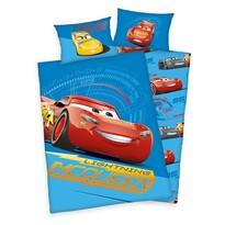 Detské bavlnené obliečky do postieľky Cars blue, 100 x 135 cm, 40 x 60 cm