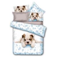 DecoKing Povlečení Grumpy Puppy mikrovlákno, 135 x 200 cm, 80 x 80 cm
