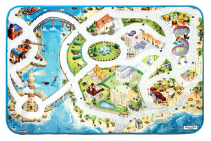 Dywan dla dzieci Ultra Soft Plaża, 95 x 145 cm