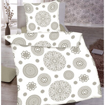 Pościel bawełniana Mandala biały, 140 x 200 cm, 70 x 90 cm