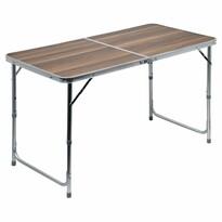 Cattara Kempingový teleskopický stôl Double, hnedá