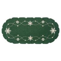 Vánoční ubrus Vánoční hvězda zelená