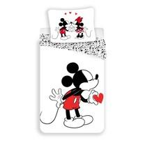 Detské bavlnené obliečky Mickey hearts 2016, 140 x 200 cm, 70 x 90 cm