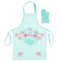 Detská kuchynská súprava Plameniak modrá