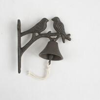 Dzwonek żeliwny Ptaszki, 18,5 cm